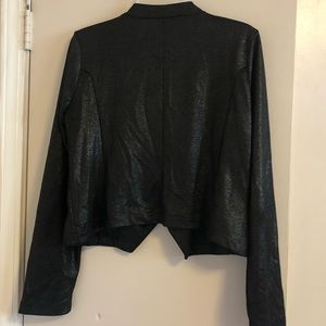 BONGO Jackets & Coats - MUST GO FINAL PRICE Black metallic leather sweater